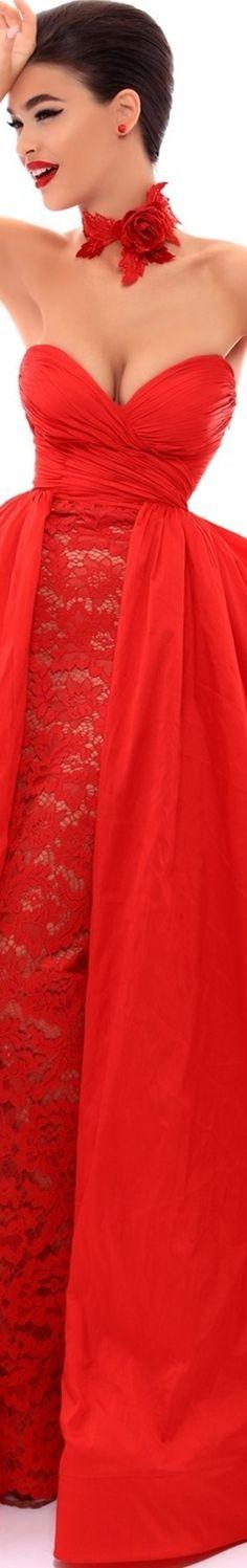 RAVISHING RED--Tarik Ediz Prom 2018