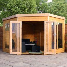 Avon 9' x 9' Chelsea Deluxe Corner Summer House http://www.sheds.co.uk/summer-houses/avon-9-x-9-chelsea-deluxe-corner-summer-house.html