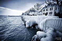 Versoix en glace, Genève.