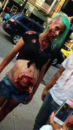 Pregnant zombie... I want to see someone do this. Lol