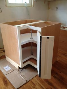 Corner Cabinet With Inset Door And Piano Hinge New