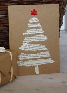 These torn paper tree cards. - Christmas Fun - These torn paper tree cards. Diy Christmas Cards, Noel Christmas, Christmas Ornaments, Christmas Music, Christmas Wrapping, Christmas Books, Paper Christmas Trees, Christmas Scripture, Christmas Abbott