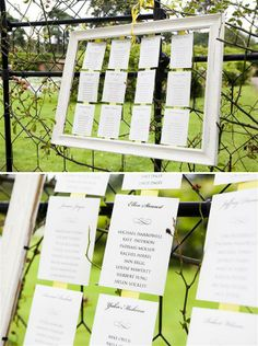 frame seating chart, image by http://cecelinaphotography.com/