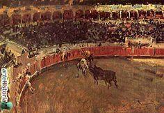 """Mariano Fortuny y Marsal. Reus, Cataluña, España. 1838- 1874. Considerado junto a Eduardo Rosales como uno de los pintores españoles más importantes del siglo XIX después de Goya. """"  Corrida de Toros. http://www.ptaurinajosetomas.com/html/4641_TECNOLOGIA_QUIMICA_DE_MONTAJE_INDUSTRIAL__S_L_/img/prod_147755_.jpg"""