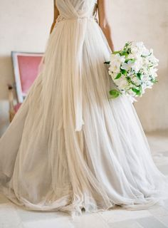 Beautiful, romantic, ethereal wedding dress, I would wear this.