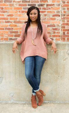 Daydream Believer Sweater - Mauve