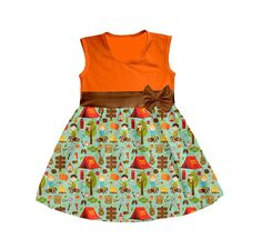 2457a7eb699 Factory direct sales girl dress camping printing casual baby girl cotton  frock designs summer dress. Rose Qin · boutique baby clothing