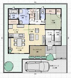 Minimalist Interior, House Layouts, Floor Plans, Flooring, How To Plan, Home, Cannes, Sims House, House Interior Design