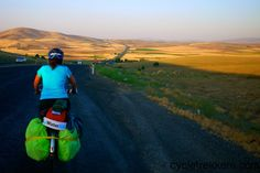 Cycling the Silk Road in Turkey from Cesme to Cappadocia during our France to China cycle tour in 2014 and in the hottest month of year.