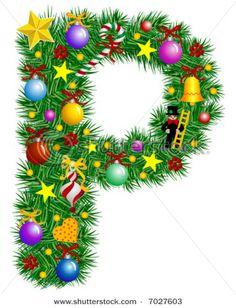 Letter P - Christmas tree