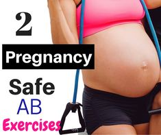 Pregnancy safe ab workout can be done at home.  Printable workout card and workout video in post.  http://michellemariefit.com/2-safe-pregnancy-ab-exercises/