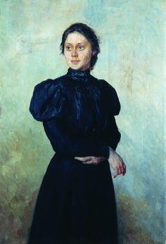Nikolai Alexandrovich Yaroshenko (1846 - 1898) - Portrait of Vera Glebovna Uspenskaya, 1884