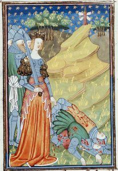 Artemisia, from Le livre de femmes nobles et renomées (British Library 16 G V), produced in Rouen c. 1440