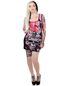 BETTIE DRESS - MOTH SKULL