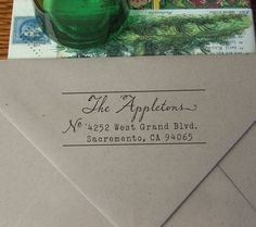 Custom Eco Mount Rubber Address Stamp, $19.95