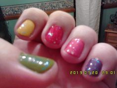 rainbow nails Beauty UK and Claire's  (8)