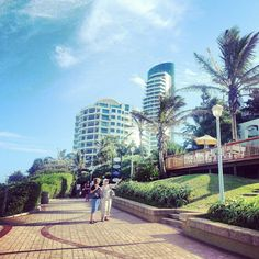 You can walk for an hour along the beautiful Umhlanga Rocks promenade ...