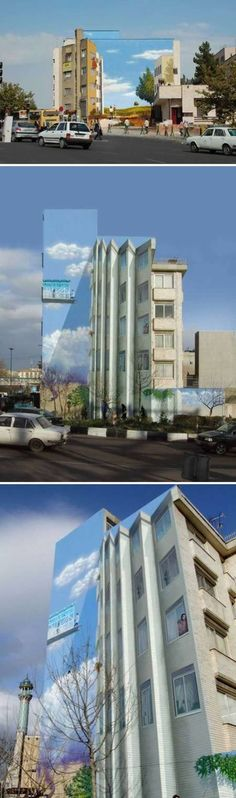 This Tehran building mural is so well-executed that I had to take a moment to digest that it was a work of art and not some impossible, kooky architectural design. Located in Iran, this piece cleverly relies on an optical illusion that will have the residents doing double-takes.