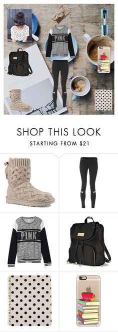 """Studying for December Exams !"" by sweetmango30 ❤ liked on Polyvore featuring UGG, Pearl Izumi, Victoria's Secret, Kate Spade, Casetify, Vera Bradley, school, exams, december and 5daysbeforechristmas"