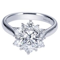 #floral inspired engagement ring from @Gabriel & Co. #flower