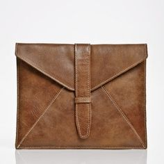 I-envelope Sleeve Vintage Tribe Leather   Men's and Women's Laptop and Tablet   Roots  #RootsBacktoSchool