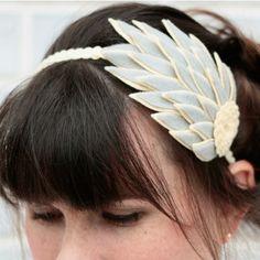 Felt Feather Gray by Katie Kortman