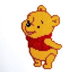 Winnie the Pooh hama perler beads by Little Miss Productive