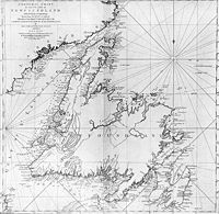 Cook's 1775 Map of Newfoundland. Surveyed by James Cook & Michael Lane, published by Thomas Jefferys, from the Centre for Newfoundland Studies at MUN via Wikimedia Commons. James Cook, Newfoundland Island, Newfoundland And Labrador, Newfoundland Canada, Ireland Beach, Ireland Travel, British Library, Quebec, Dublin