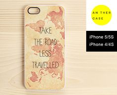 Vintage map & inspirational quote iPhone 5s case by AnotherCase, €13.00  Woah.... I. LOVE. THIS. I need to get my 5S soon, and get this as a 5S. Want. Want. Want!