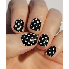 So Gloss Nail Wraps Black & White Mini Dots Nail Wrap ($11) ❤ liked on Polyvore featuring beauty products, nail care and nail treatments