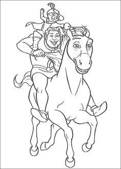 Shrek Tegninger til Farvelægning. Printbare Farvelægning for børn. Tegninger til udskriv og farve nº 68