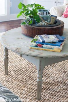 Distressed Round Coffee Table by The Lilypad Cottage