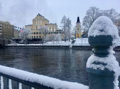 Talvinen Tampere. Pieni promenadi Tammerkosken töyräällä. 1/2018