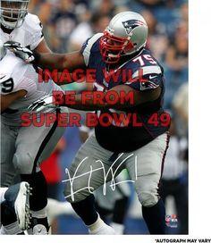 """Vince Wilfork New England Patriots Autographed Super Bowl XLIX 8"""" x 10"""" Action Photograph"""