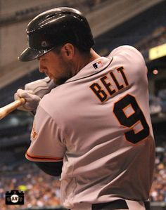 BRANDON BELT… Made his first start on this road trip last night and was a double shy of hitting for the cycle.