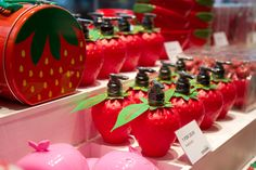 Strawberry products display at the opening of Tiger Store's 17th Irish store at Blanchardstown Centre, Tuesday July 14 Photo John Austin