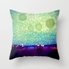 Equilibrium Throw Pillow by Olivia Joy StClaire - $20.00 modern decor , abstract, pillow, mint green, aqua, blue, contemporary decor, abstract art, dorm decor, pretty home, home decorating