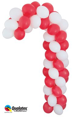 Christmas balloon topiary holiday inspiration for Candy cane balloon sculpture