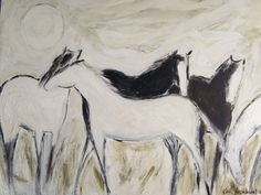 """""""July""""  48x60 painting by Karen Bezuidenhout oil and acrylic on canvas. sold."""