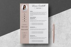 Resume Template/CV by LucaTheme on @creativemarket