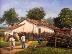 Resultado de imagem para oleo sobre tela paisagens rurais