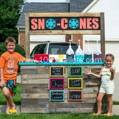 "Kids ""Sno-Cones"" Stand"