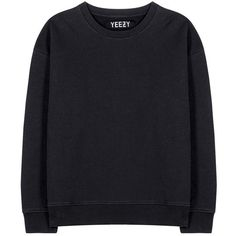 Yeezy Cotton Sweater (Season 1) found on Polyvore featuring tops, sweaters, sweatshirts, black, adidas originals, black cotton top, cotton sweater, black sweater and black cotton sweater