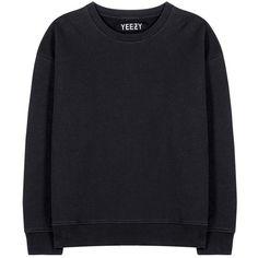 Yeezy Cotton Sweater (Season 1) (398,480 KRW) ❤ liked on Polyvore featuring tops, sweaters, sweatshirts, shirts, black, adidas originals, adidas originals shirt and cotton shirts