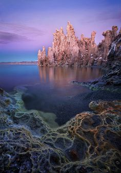 Mono Lake, California. I love, love, LOVE the combination of dreamy colors and intricate textures on this photo!