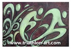 Triathlon+on+Complementary+Colors+by+triathlonart+on+Etsy,+$40.00