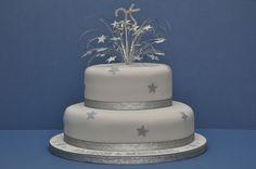 25th wedding anniversary cakes | Silver Wedding Anniversary Cake