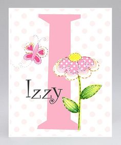 Take a look at this Flower Personalized Print by Farmhousefive Art for Kids on #zulily today!
