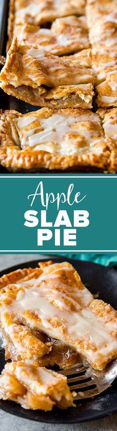 Slab pies feed a crowd and this simple apple slab pie with maple icing is always a crowd-pleaser! Tart Recipes, Apple Recipes, Sweet Recipes, Dessert Recipes, Cooking Recipes, Batch Cooking, Dessert Bars, Drink Recipes, Apple Desserts