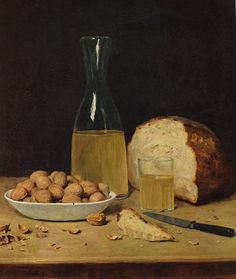 """Still Life with Wine"" (Date unknown), by Swiss artist - Albert Anker (1831-1910), Medium unknown, Dimensions unknown, Owner/Location unknown."